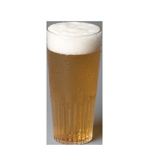 Herbruikbare bier en water glazen in polycarbonaat