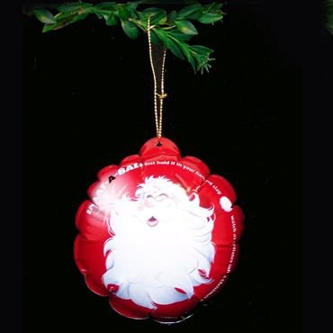 kerstbal , sla en het blaast zichzelf op