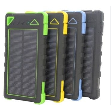 Solar Powerbank 10000 mAh met LED zaklamp