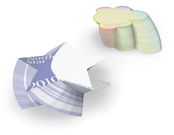 3D memoblok in speciale vorm