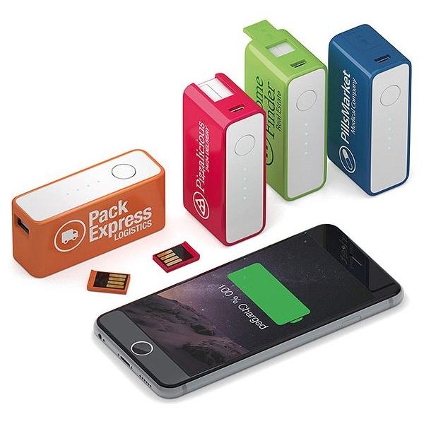 Powerbank en usb stick 4 GB in 1