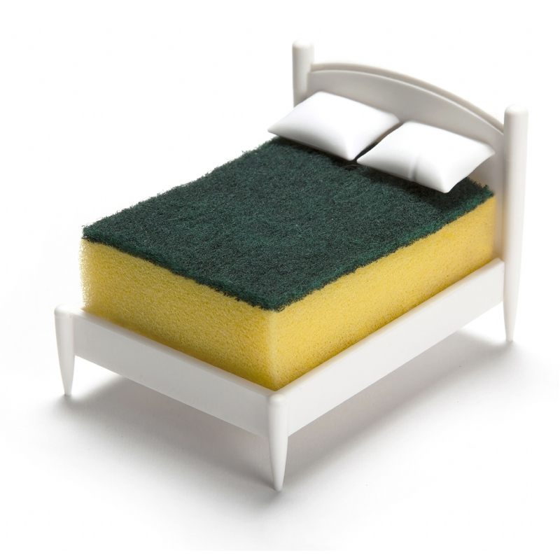 Een spons in bed!