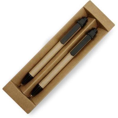 Bamboe pennenset met rubber grip