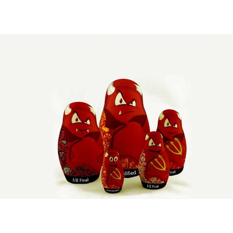Matroesjka poppetjes rode duivels