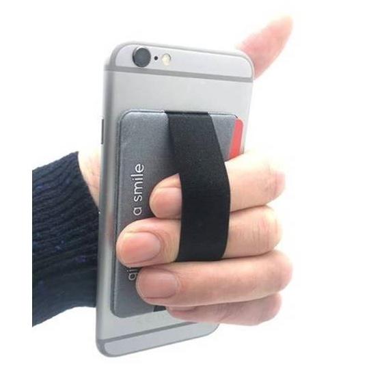Kaarthouder om aan de achterkant van uw mobiele telefoon te bevestigen