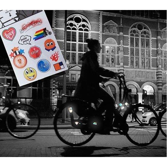 Reflecterende fiets tattoos