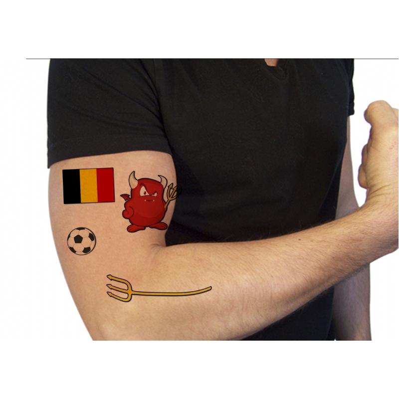 Voetbal getinte tattoos