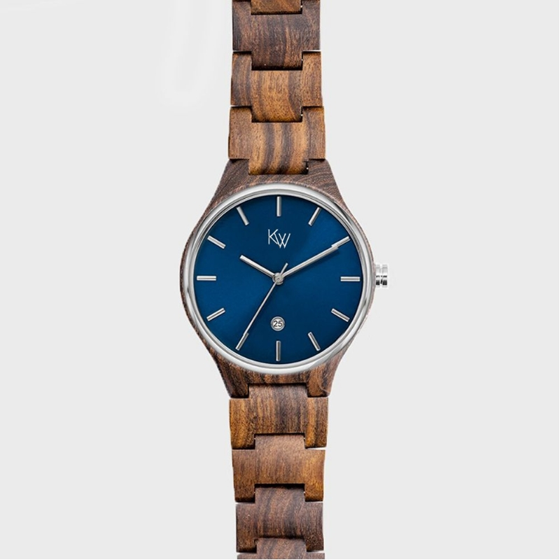 Horloge met houten bandje