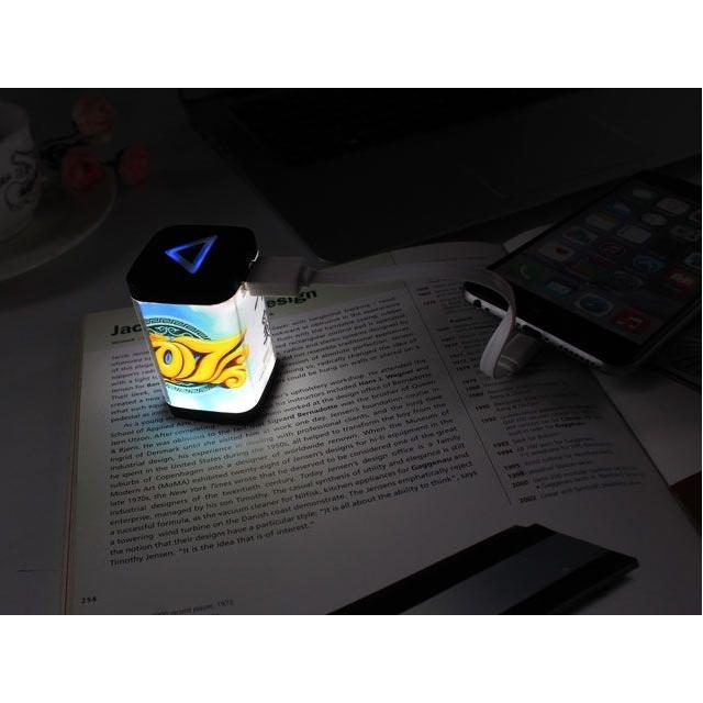 Powerbank Acryl Licht