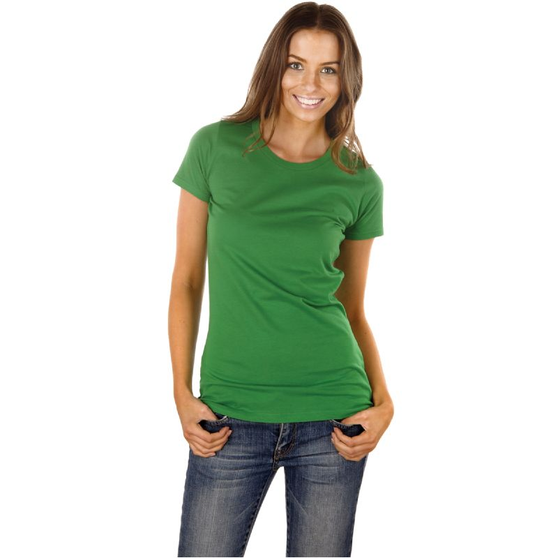 Organisch katoenen slim fit T-shirt, dames