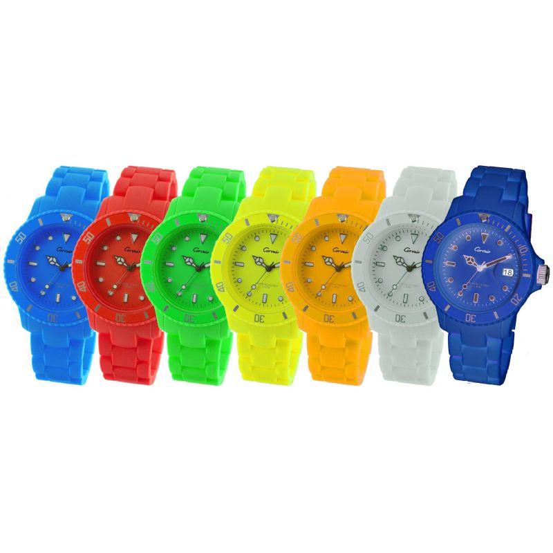 Trendy horloge met synthetische armband