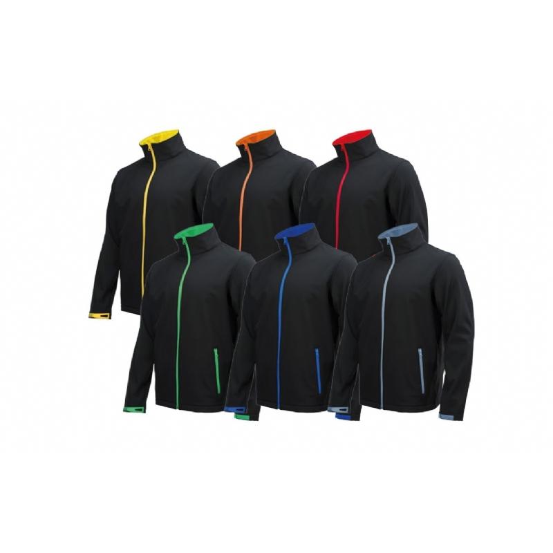 Softshell jas Mannen met kleurige accenten