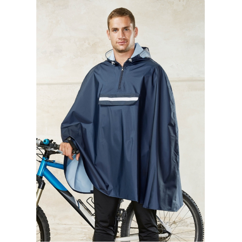 Praktische fietsponcho