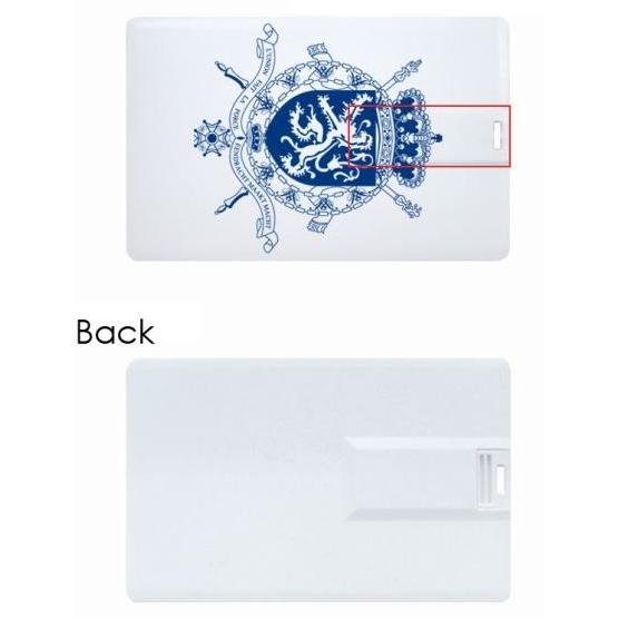 usb stick in de vorm van een kredietkaart