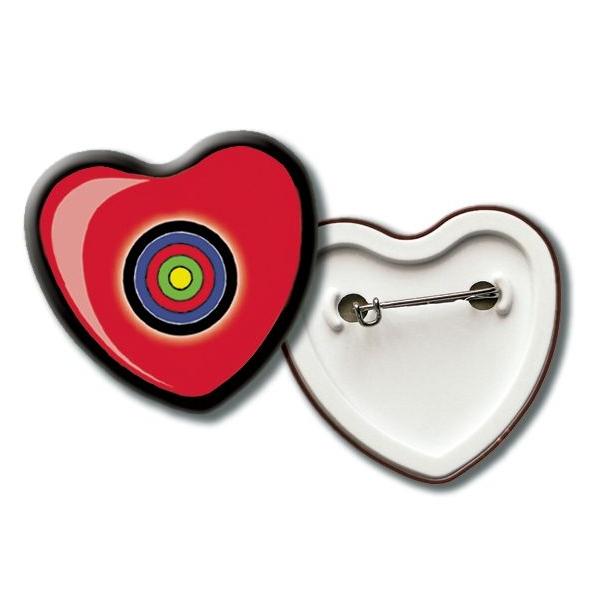 Hartvormige badge