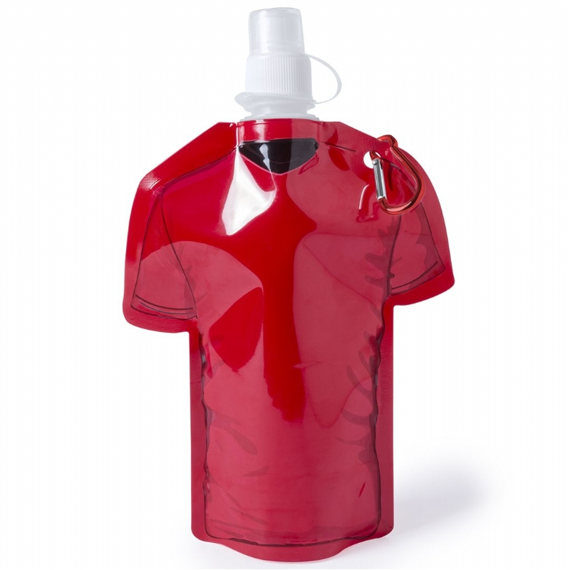 Opvouwbare drinkfles in shirtvorm