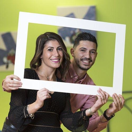 Polaroid frame liggend