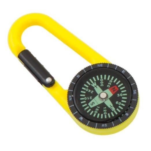 Praktisch kompas aan karabijnhaak