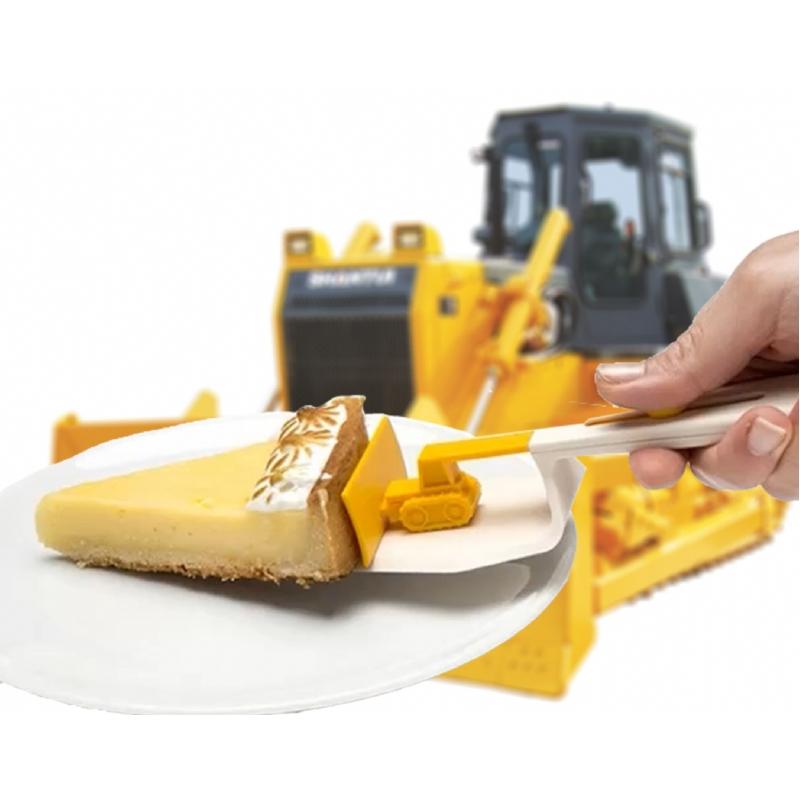 De bulldozer taarthulp!