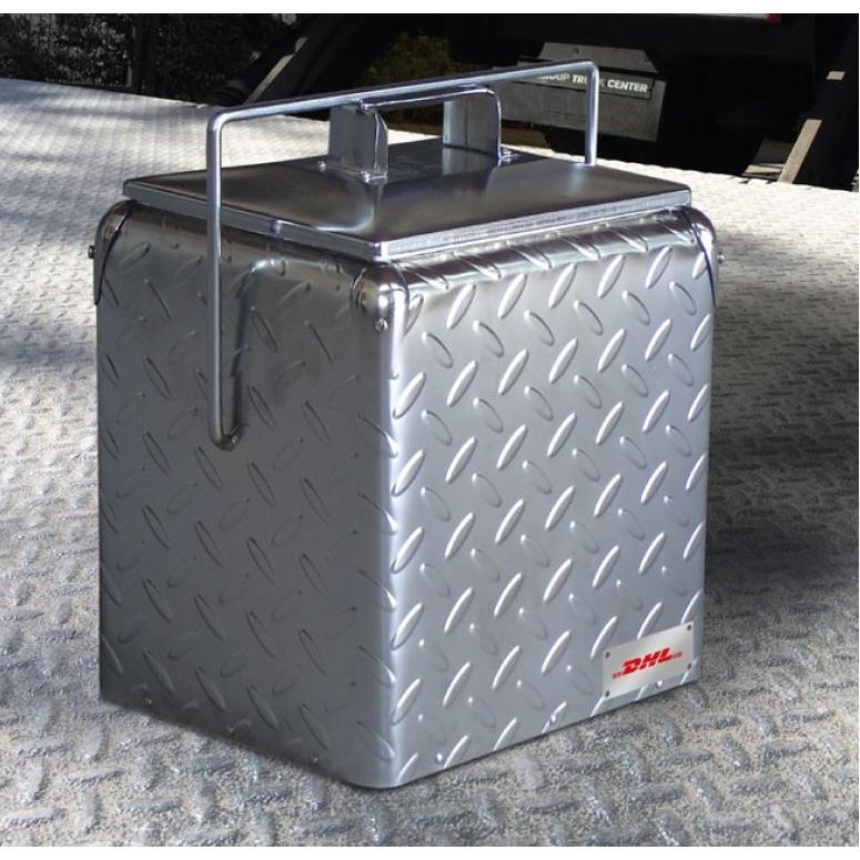 Retro metalen koelbox