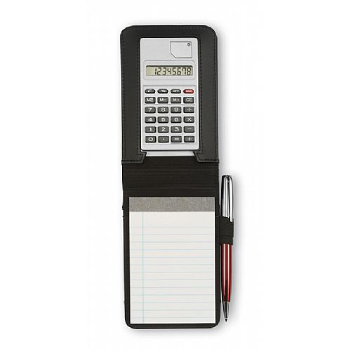 Notitieblok met rekenmachine