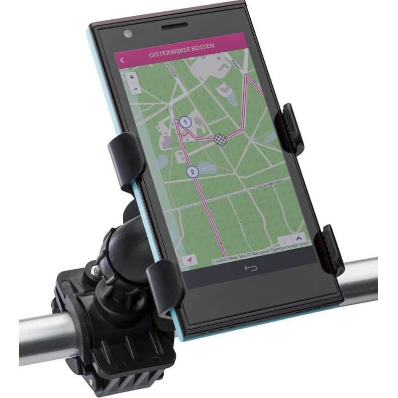 Verstelbare mobiele telefoonhouder voor op de fiets