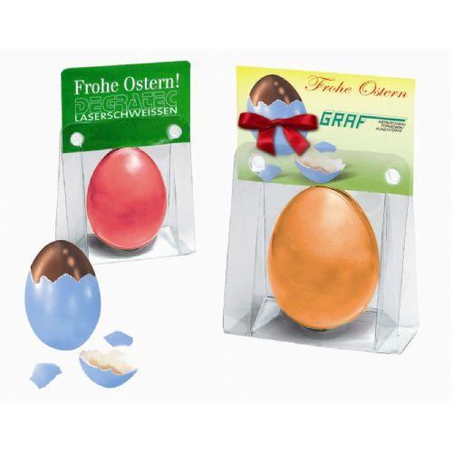 Chocolade-ei, in originele eierschaal