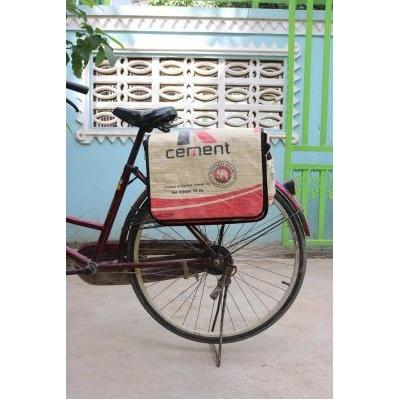Fair trade gerecycleerde fietstas