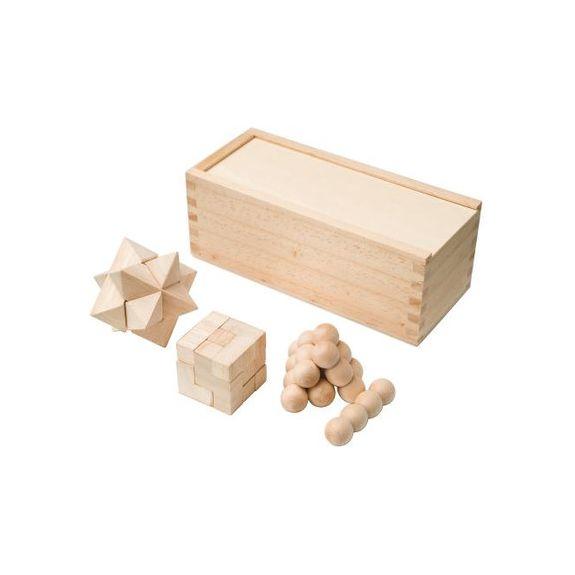 3-delig houten denkspel