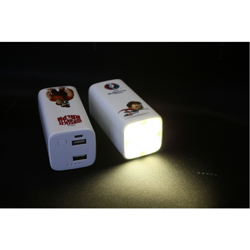 Powerbank met zaklamp