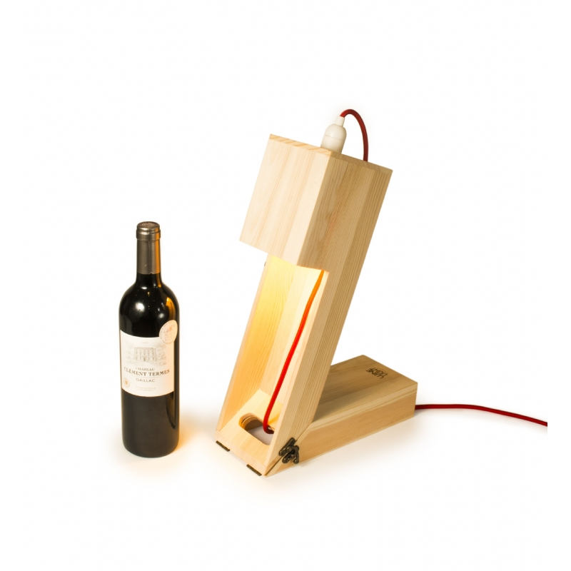 Wine Light wijn box en tafel lamp