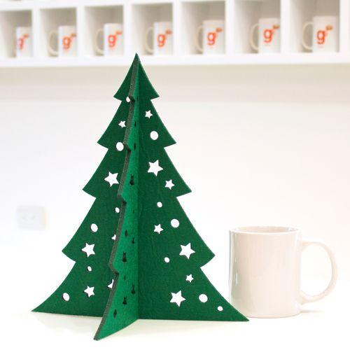 Kerstboom van vilt