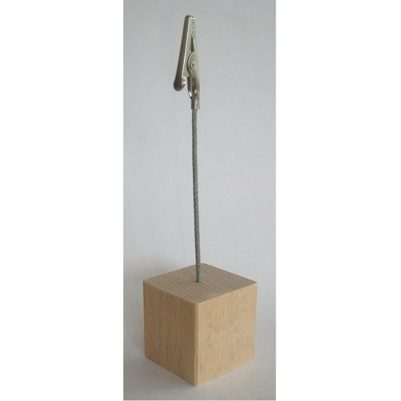 Memohouder met houten standaard