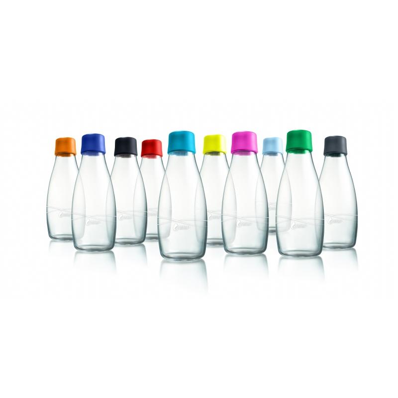 Glazen milieuvriendelijke waterfles