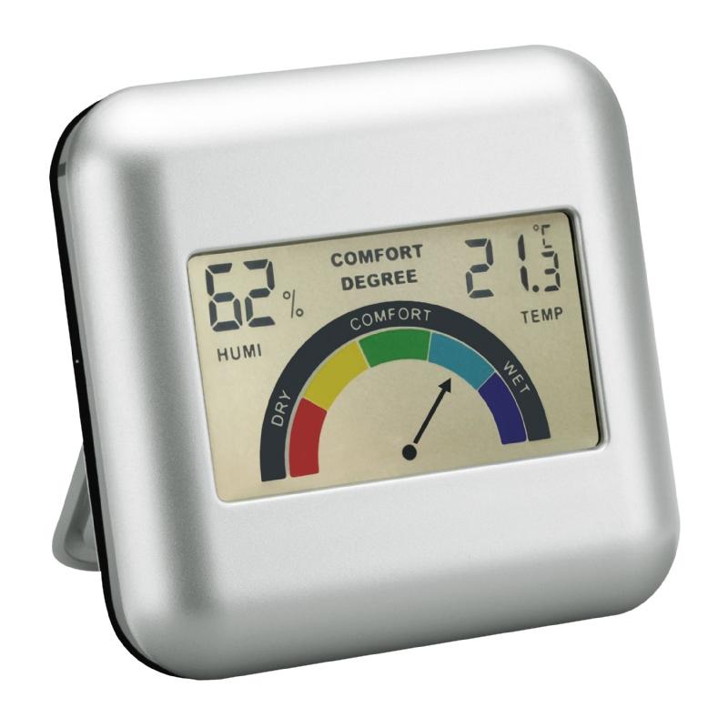 Bureau weerstation met klimaatweergave