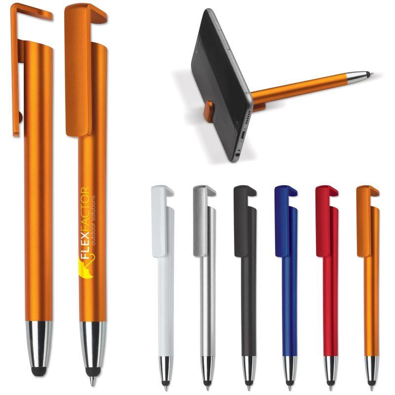 3 in 1 pen: balpen, stylus en telefoonstandaard