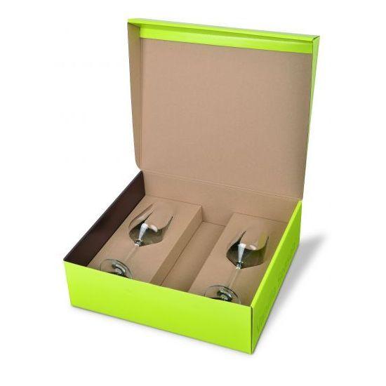 Pakket met 2 glazen en plaats voor jouw fles wijn