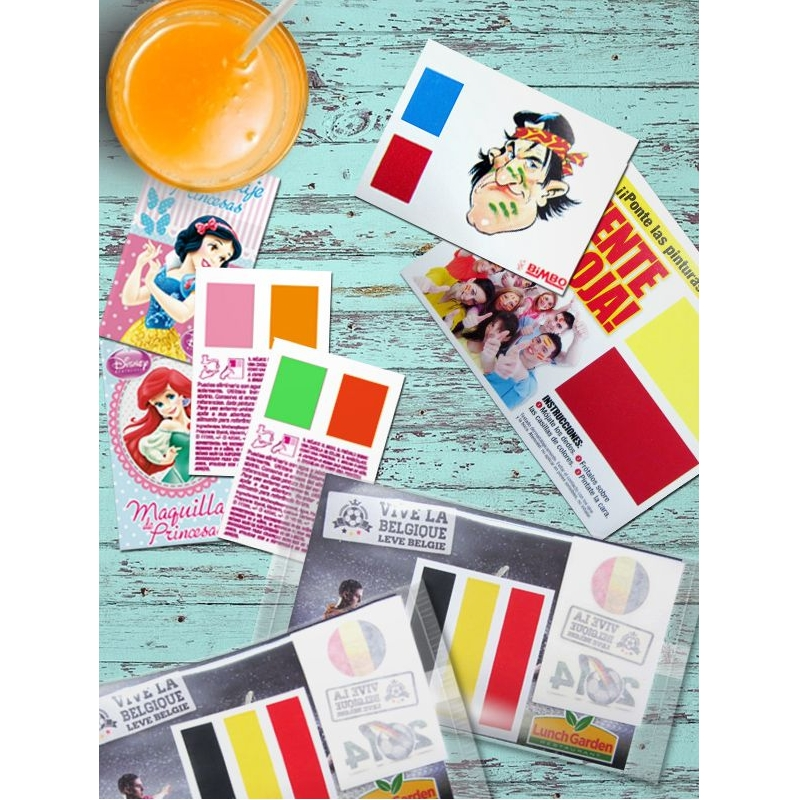 Stel facepaint kaartjes samen met jouw kleuren!