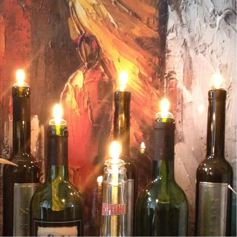 Universele olielamp voor uw wijnfles