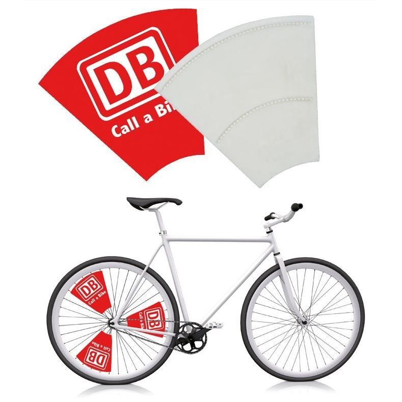 Stevig kunststof vlag voor fietsen