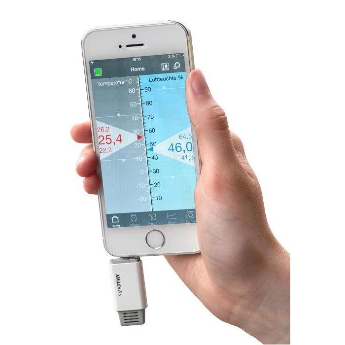 Thermometer/hygrometer voor smartphones.