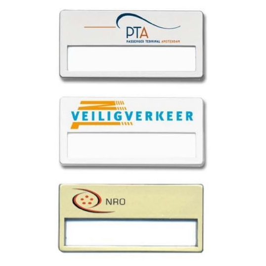 Naambadges met logo